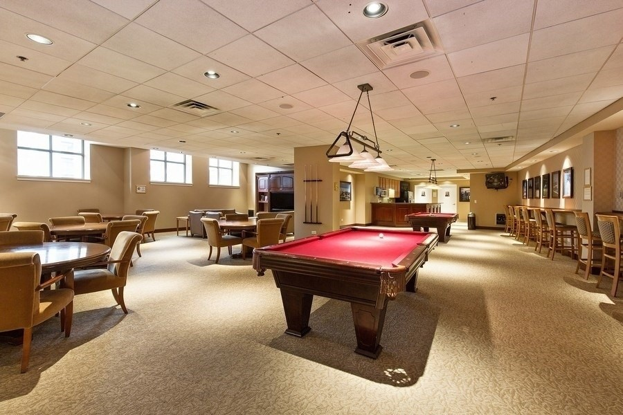 Real Estate Photography - 233 E 13th St, Unit 604, Chicago, IL, 60605 - Club house room