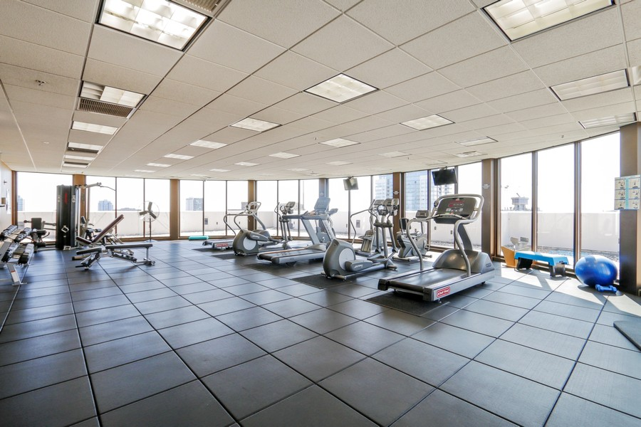 Real Estate Photography - 233 E 13th St, Unit 604, Chicago, IL, 60605 - Penthouse workout room