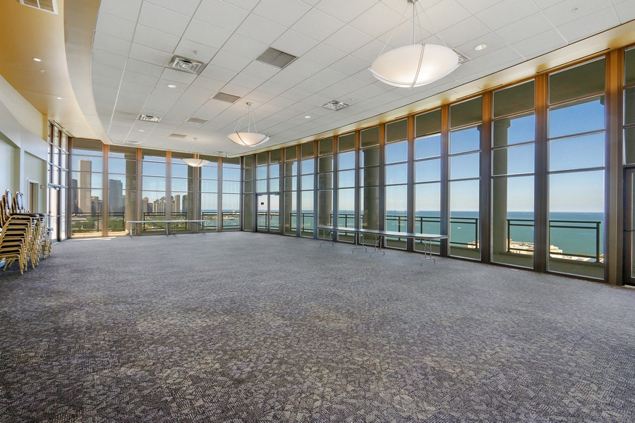 Real Estate Photography - 233 E 13th St, Unit 604, Chicago, IL, 60605 - Penthouse party room - best view in town!