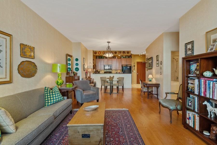 Real Estate Photography - 233 E 13th St, Unit 604, Chicago, IL, 60605 - Kitchen/Living
