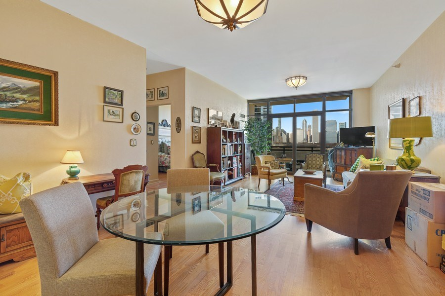 Real Estate Photography - 233 E 13th St, Unit 604, Chicago, IL, 60605 - Living Room / Dining Room