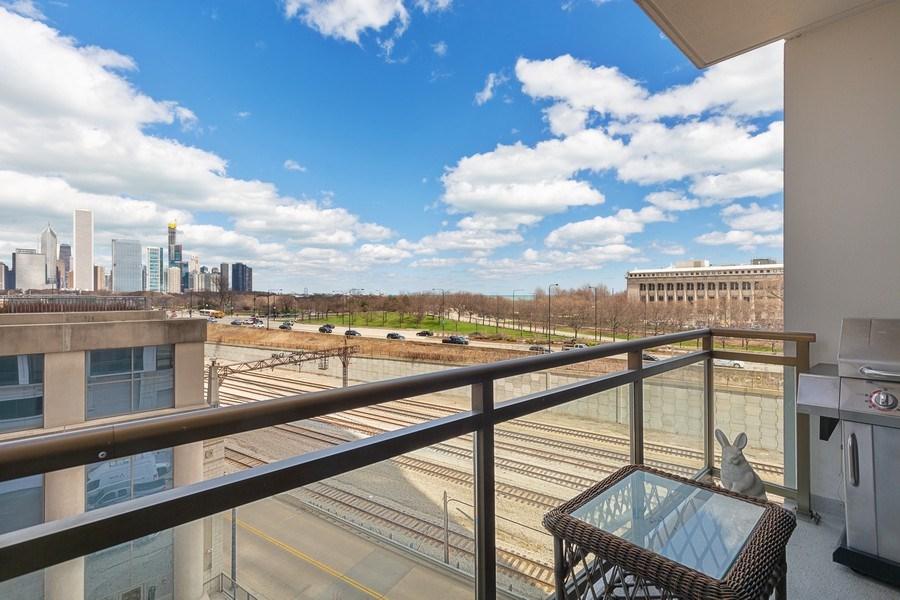 Real Estate Photography - 233 E 13th St, Unit 604, Chicago, IL, 60605 - Balcony