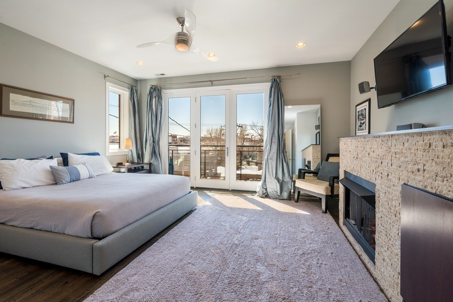 Real Estate Photography - 2419 W Superior St, Chicago, IL, 60612 - Master Bedroom