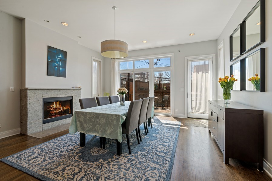 Real Estate Photography - 2419 W Superior St, Chicago, IL, 60612 - Dining Room