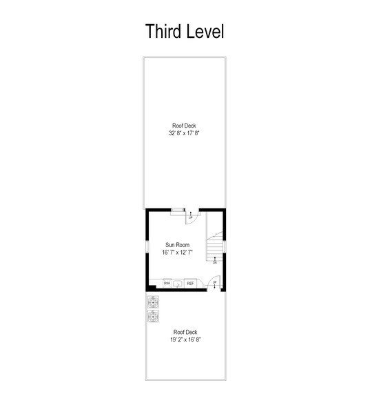 Real Estate Photography - 2419 W Superior St, Chicago, IL, 60612 - Floor Plan