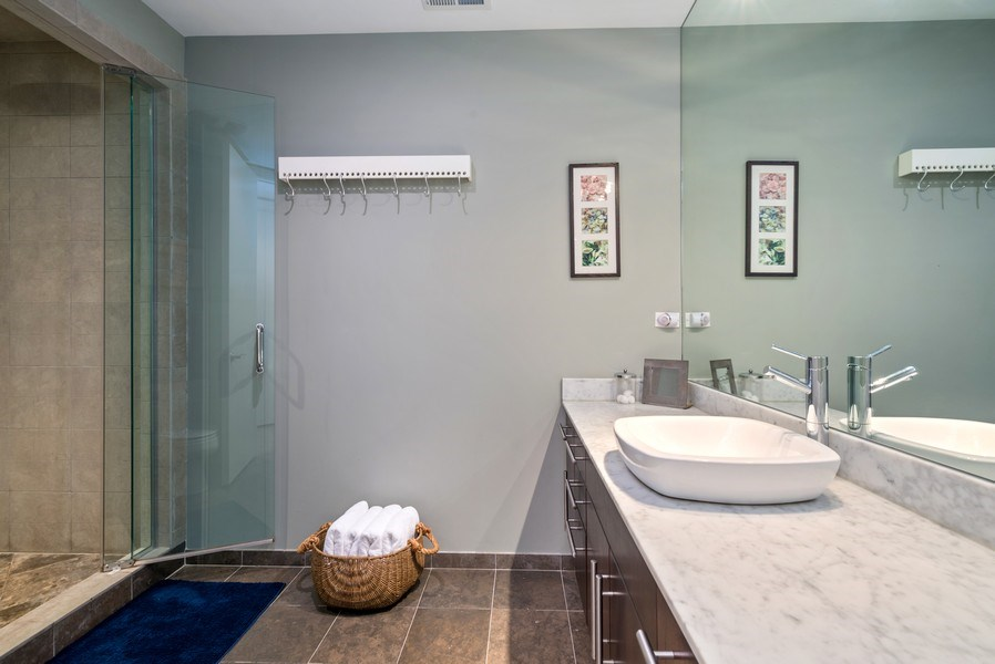 Real Estate Photography - 2419 W Superior St, Chicago, IL, 60612 - 2nd Bathroom
