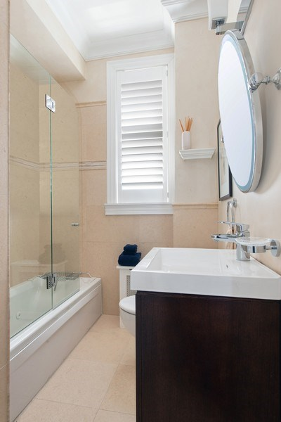 Real Estate Photography - 999 N. Lake Shore, 2A, Chicago, IL, 60611 - Bath to En-Suite  Bedroom Three