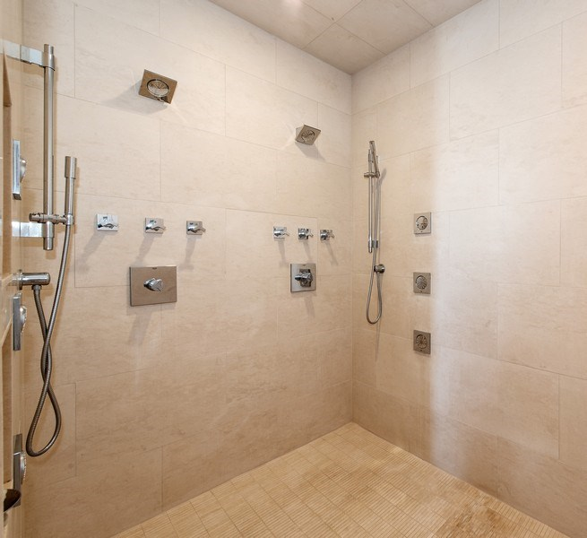 Real Estate Photography - 999 N. Lake Shore, 2A, Chicago, IL, 60611 - Master Bath Walk-In Shower