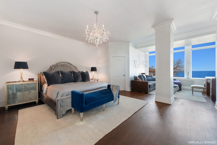 Real Estate Photography - 999 N. Lake Shore, 2A, Chicago, IL, 60611 - Master Bedroom Suite