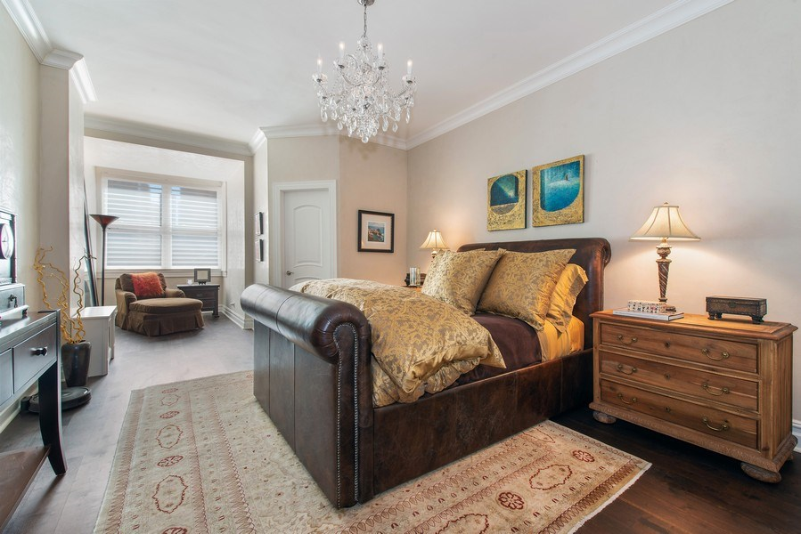 Real Estate Photography - 999 N. Lake Shore, 2A, Chicago, IL, 60611 - En-Suite Bedroom Two