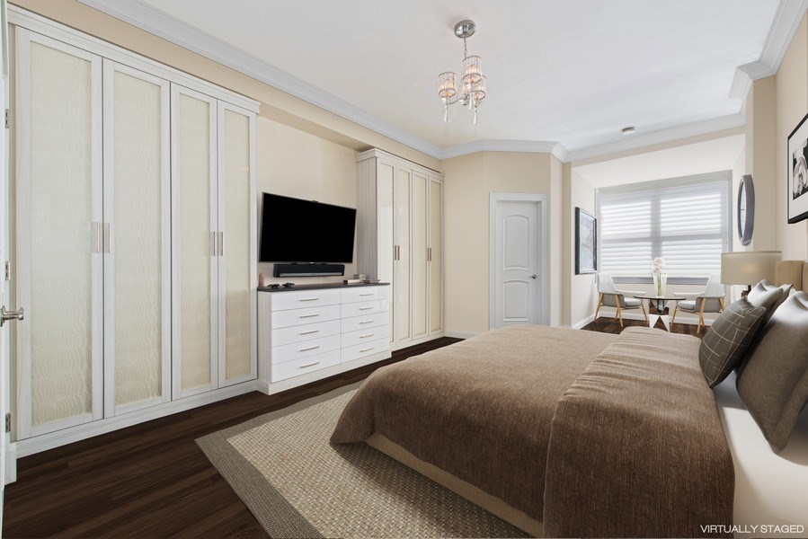Real Estate Photography - 999 N. Lake Shore, 2A, Chicago, IL, 60611 - En-Suite Bedroom Three