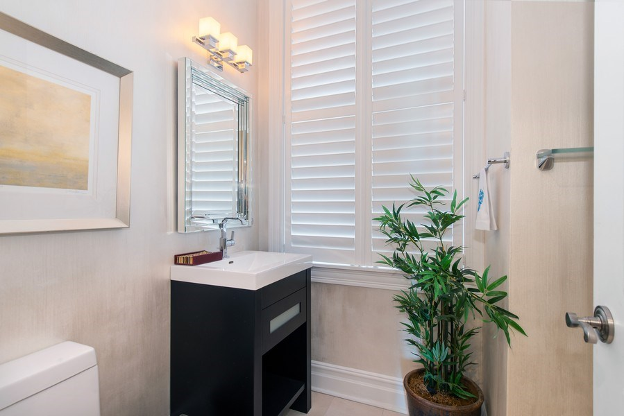 Real Estate Photography - 999 N. Lake Shore, 2A, Chicago, IL, 60611 - Powder Room
