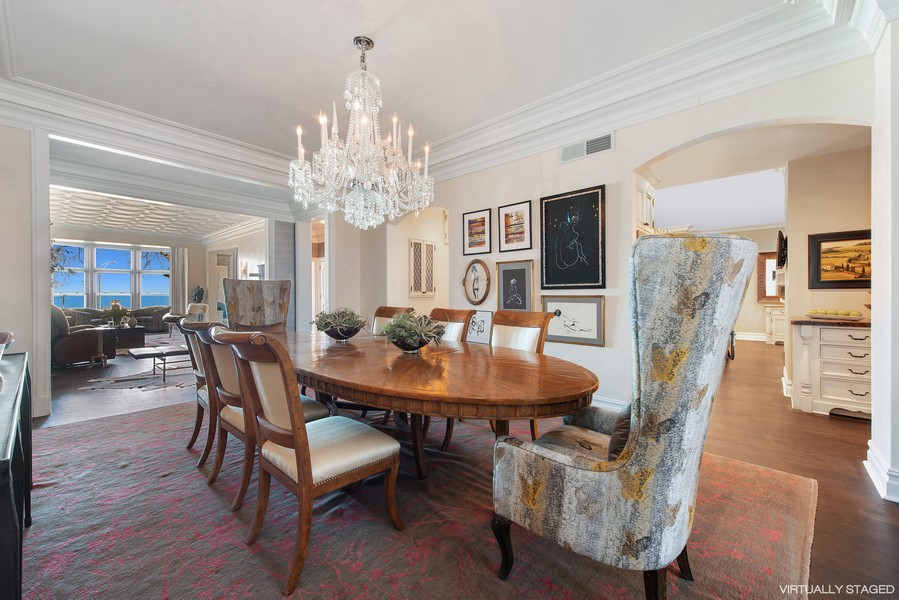 Real Estate Photography - 999 N. Lake Shore, 2A, Chicago, IL, 60611 - Dining Room Another View