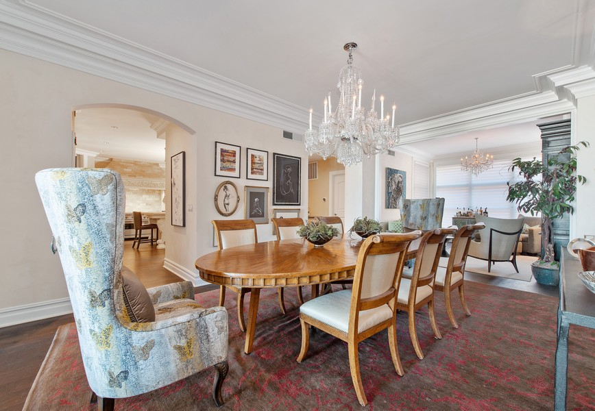 Real Estate Photography - 999 N. Lake Shore, 2A, Chicago, IL, 60611 - Dining Room