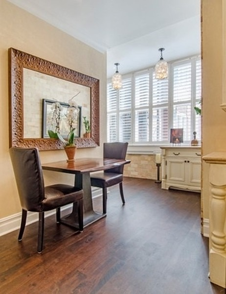 Real Estate Photography - 999 N. Lake Shore, 2A, Chicago, IL, 60611 - Casual Kitchen Dining