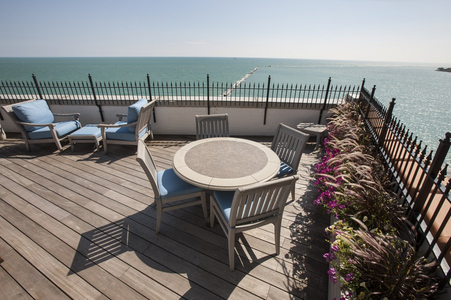 Real Estate Photography - 999 N. Lake Shore, 2A, Chicago, IL, 60611 - Rooftop Terrace Another View