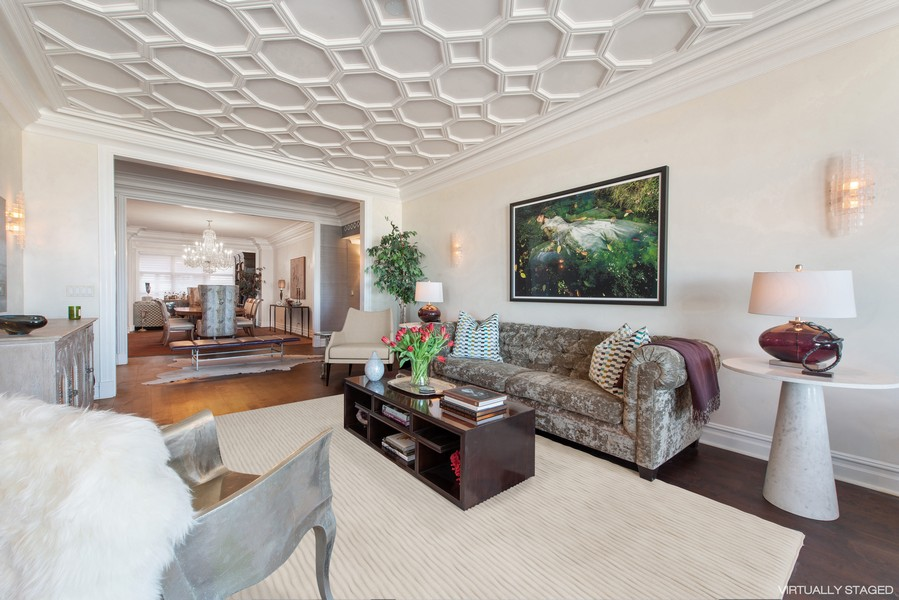 Real Estate Photography - 999 N. Lake Shore, 2A, Chicago, IL, 60611 - Living Room Another View