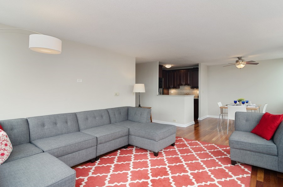 Real Estate Photography - 2700 N Hampden Ct, 21B, Chicago, IL, 60614 - Living Room / Dining Room