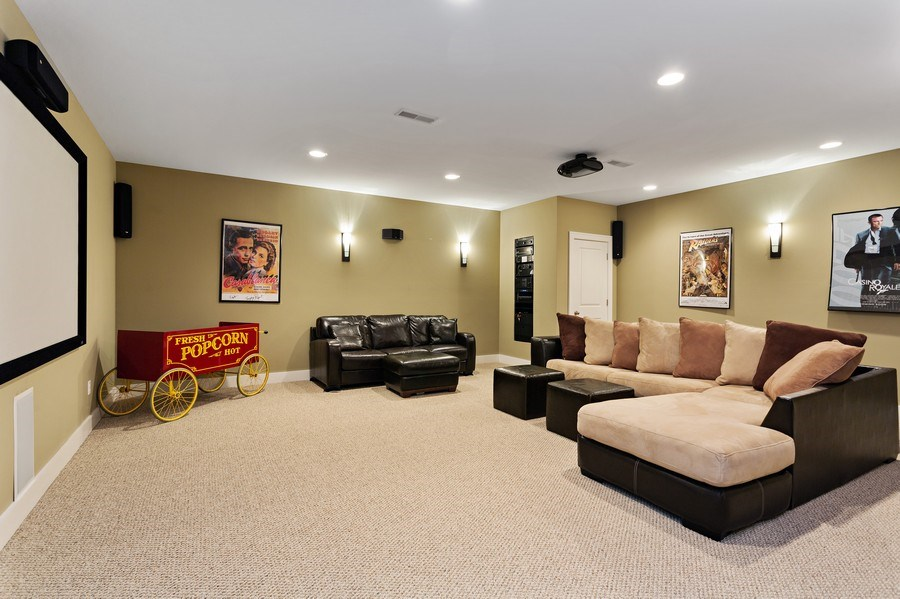 Real Estate Photography - 16204 Quality Ln, Union Pier, MI, 49129 - Media Room