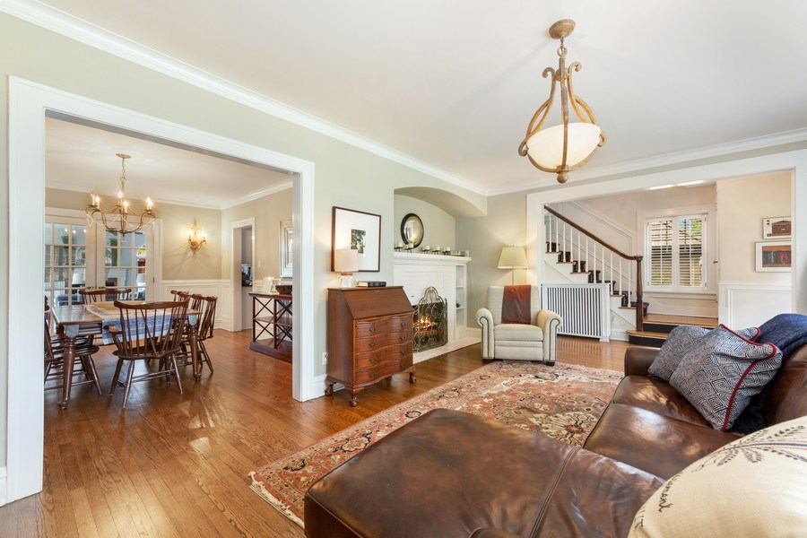 Real Estate Photography - 330 Radcliffe Way, Hinsdale, IL, 60521 - Living Room / Dining Room
