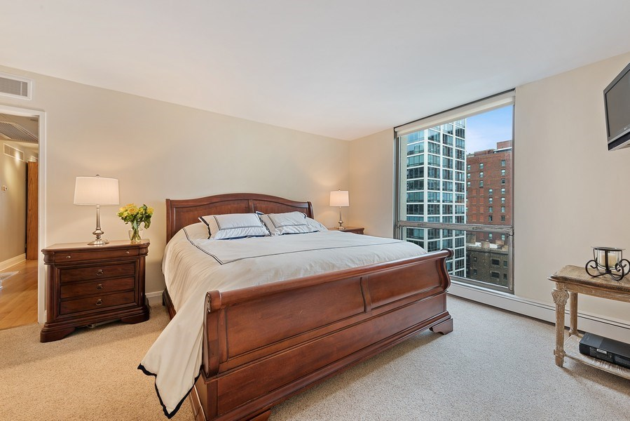 Real Estate Photography - 1310 N Ritchie Ct #14B, Chicago, IL, 60601 - Master Bedroom