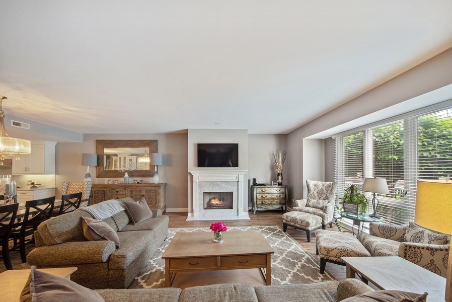 Real Estate Photography - 131 W. Adelaide, 107, Elmhurst, IL, 60126 - Living Room
