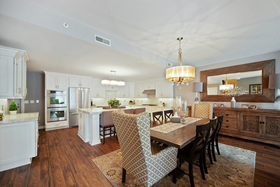 Real Estate Photography - 131 W. Adelaide, 107, Elmhurst, IL, 60126 - Kitchen / Dining Room