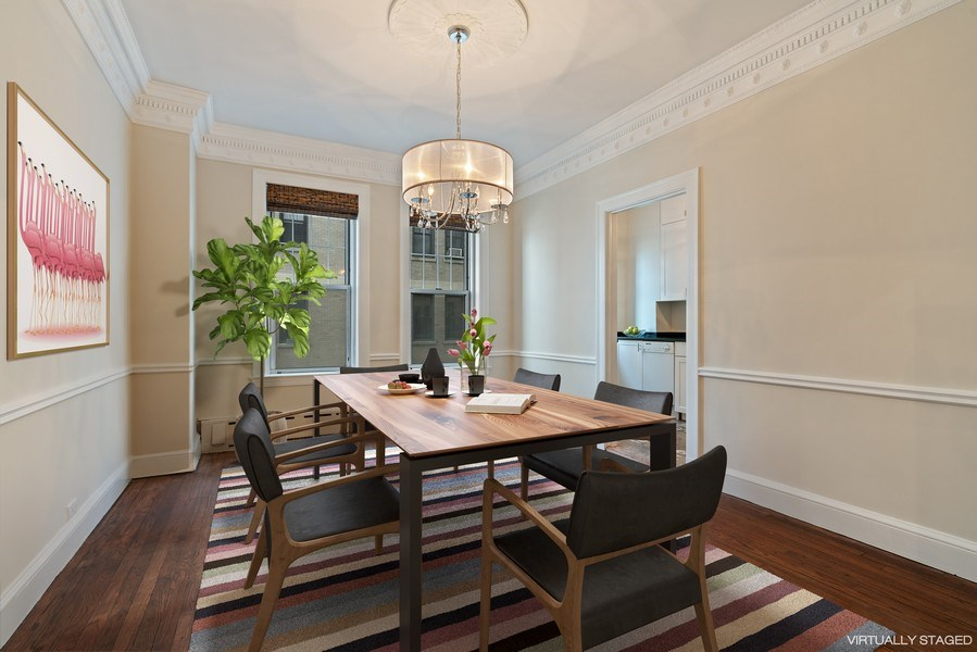 Real Estate Photography - 3520 N Lake Shore Dr, 9F, Chicago, IL, 60657 - Dining Room