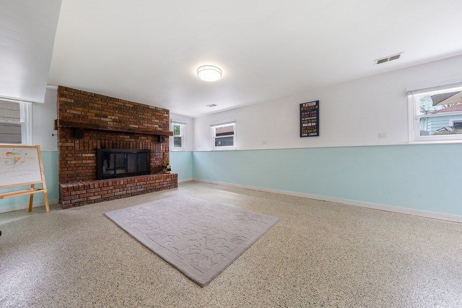 Real Estate Photography - 4084 Garden Ave., Western Springs, IL, 60558 - Basement with Walk-out