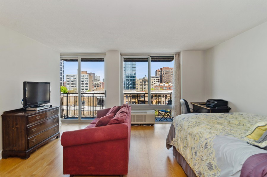 Real Estate Photography - 450 W Briar Pl, Unit 5E, Chicago, IL, 60657 - Living Room