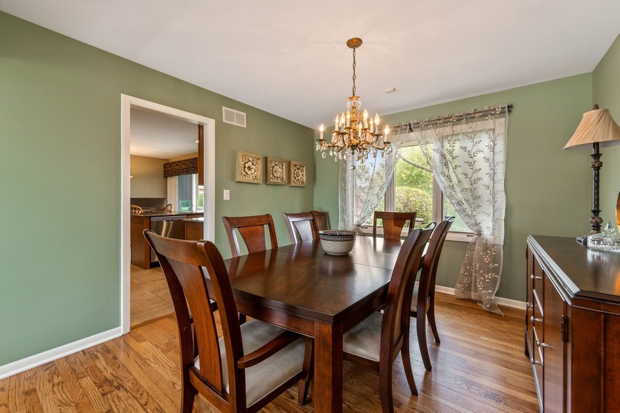Real Estate Photography - 231 RODGERS CT, WILLOWBROOK, IL, 60527 - Dining Room