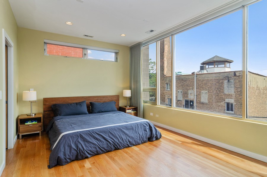 Real Estate Photography - 1919 West Crystal, #205, Chicago, IL, 60622 - Master Bedroom