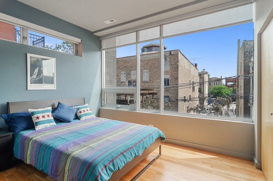Real Estate Photography - 1919 West Crystal, #205, Chicago, IL, 60622 - 2nd Bedroom