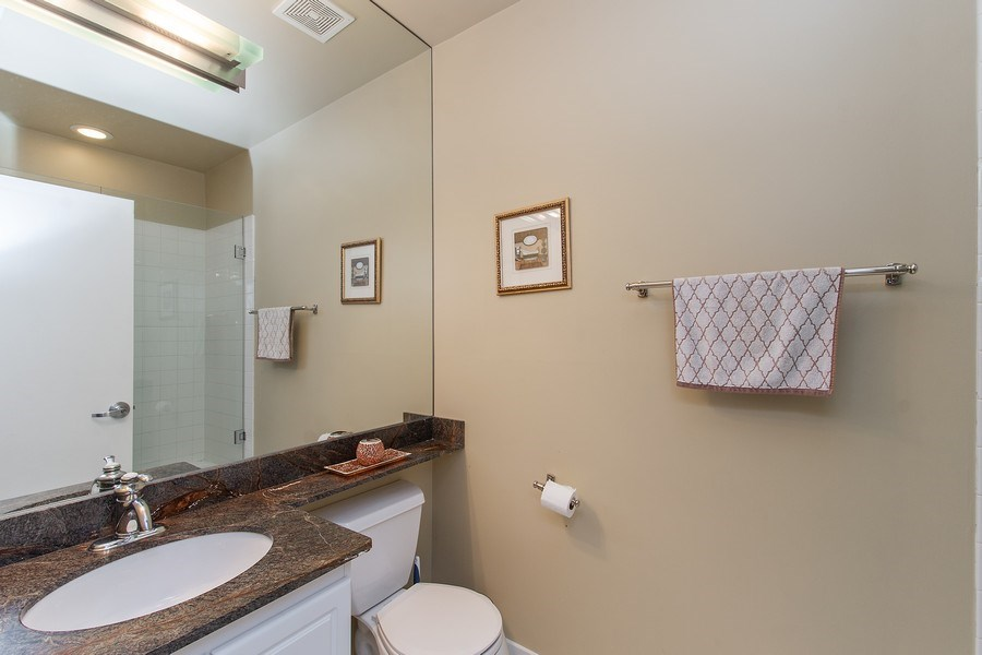Real Estate Photography - 1545 W Altgeld St, Chicago, IL, 60614 - 2nd Bathroom