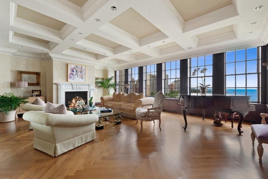 Real Estate Photography - 199 E Lake Shore, PH10W, Chicago, IL, 60611 - Living Room