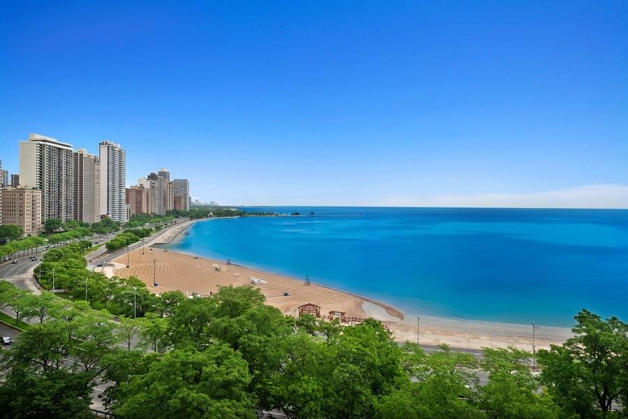 Real Estate Photography - 199 E Lake Shore, PH10W, Chicago, IL, 60611 - Lake Michigan and City View