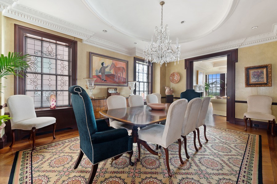Real Estate Photography - 199 E Lake Shore, PH10W, Chicago, IL, 60611 - Dining Room