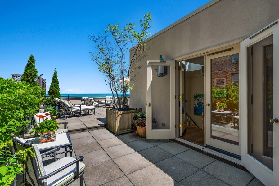 Real Estate Photography - 199 E Lake Shore, PH10W, Chicago, IL, 60611 - Penthouse Room Leading to Terrace