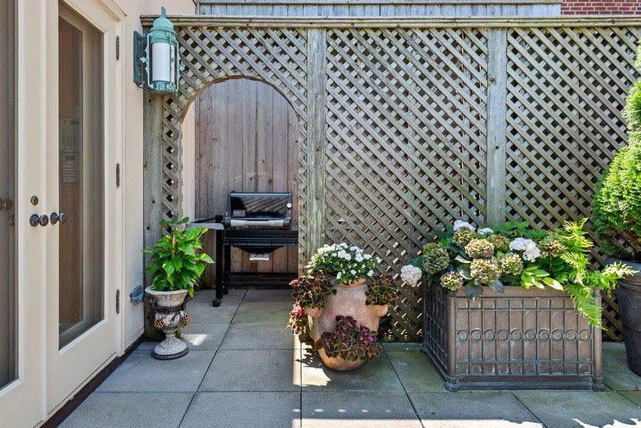 Real Estate Photography - 199 E Lake Shore, PH10W, Chicago, IL, 60611 - Grill Area and Potting Shed