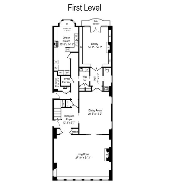 Real Estate Photography - 199 E Lake Shore, PH10W, Chicago, IL, 60611 - Floor Plan