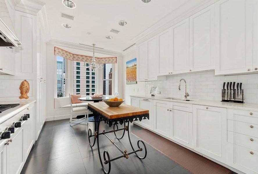 Real Estate Photography - 199 E Lake Shore, PH10W, Chicago, IL, 60611 - Dine-in Kitchen