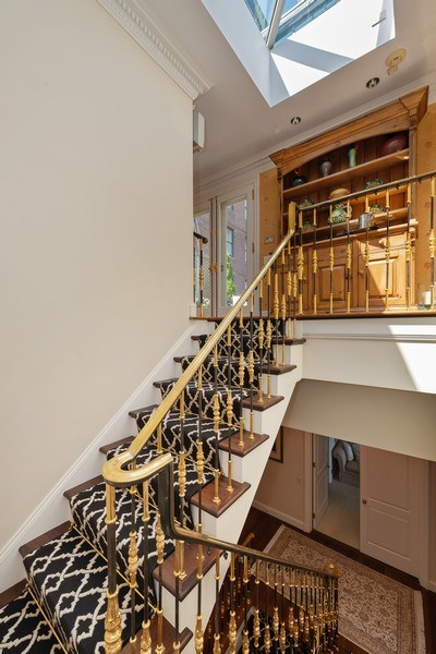 Real Estate Photography - 199 E Lake Shore, PH10W, Chicago, IL, 60611 - Stairs Leading to Penthouse Room with Skylight