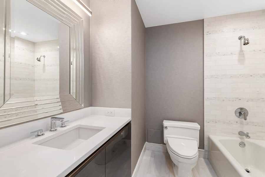 Real Estate Photography - 180 E Pearson, 5803, Chicago, IL, 60611 - Second Bathroom