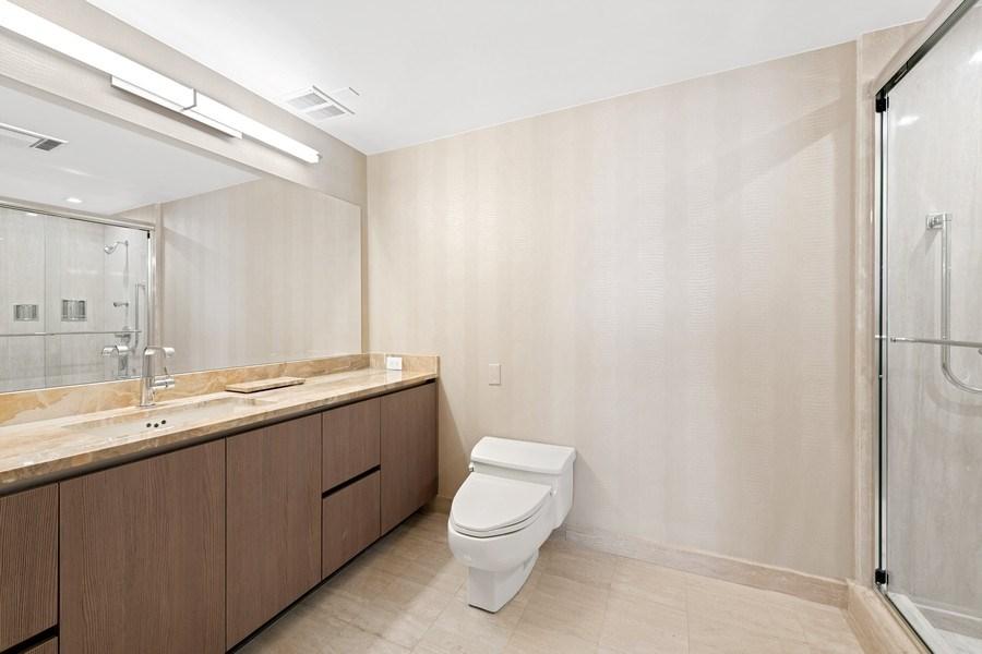 Real Estate Photography - 180 E Pearson, 5803, Chicago, IL, 60611 - His bathroom
