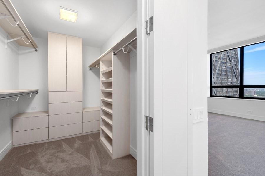 Real Estate Photography - 180 E Pearson, 5803, Chicago, IL, 60611 - Master Bedroom Closet