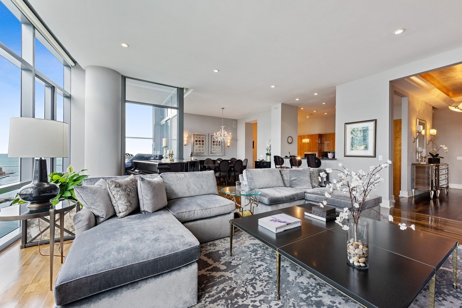 Real Estate Photography - 450 E. Waterside, Apt. 3001, Chicago, IL, 60601 - Living Room