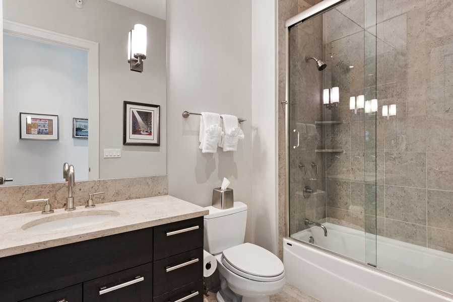 Real Estate Photography - 450 E. Waterside, Apt. 3001, Chicago, IL, 60601 - 3rd Bathroom