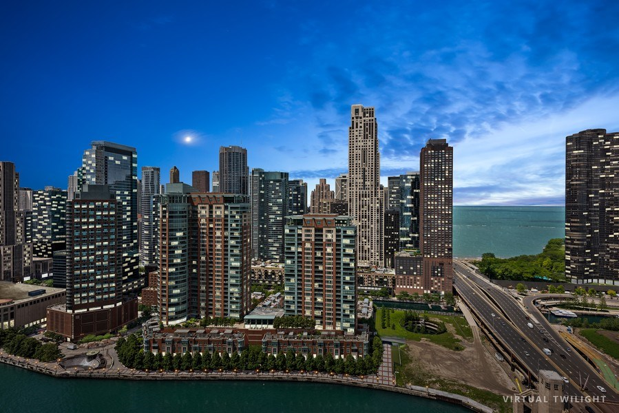 Real Estate Photography - 450 E. Waterside, Apt. 3001, Chicago, IL, 60601 - City View
