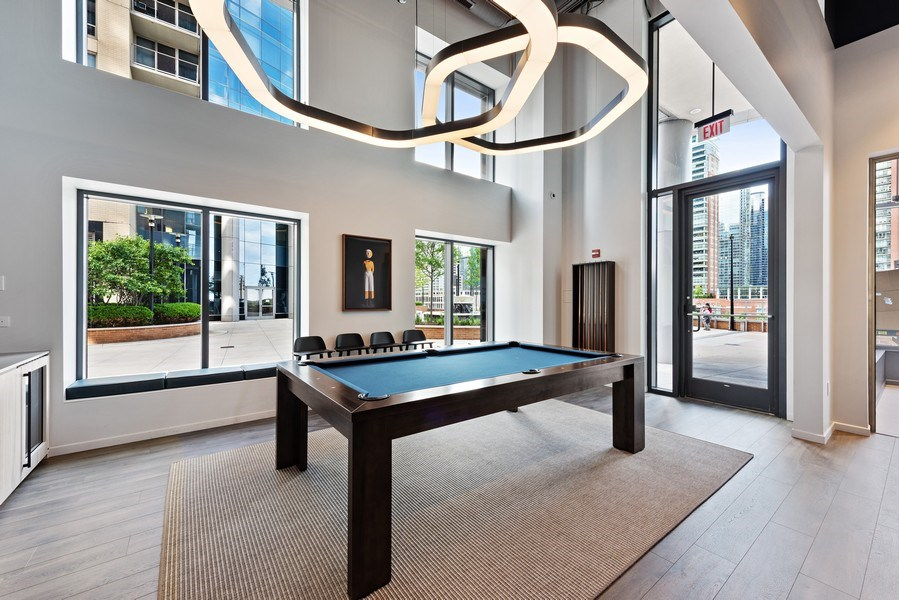 Real Estate Photography - 450 E. Waterside, Apt. 3001, Chicago, IL, 60601 - Game Room