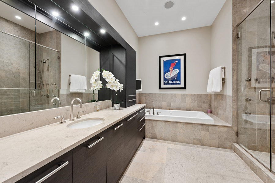 Real Estate Photography - 450 E. Waterside, Apt. 3001, Chicago, IL, 60601 - Master Bathroom